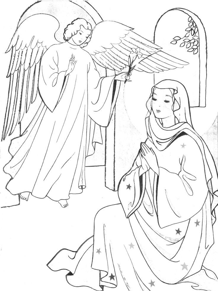 March Coloring Pages Pdf : Annunciation coloring page march mother mary and
