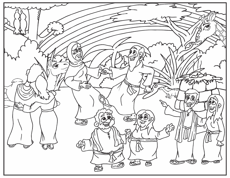 Coloring Pages Of Noahs Ark