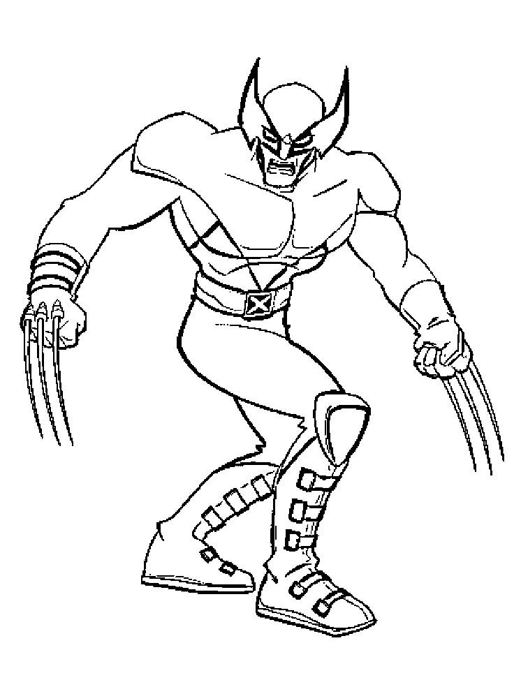 men Wolverine Co...X Coloring Page