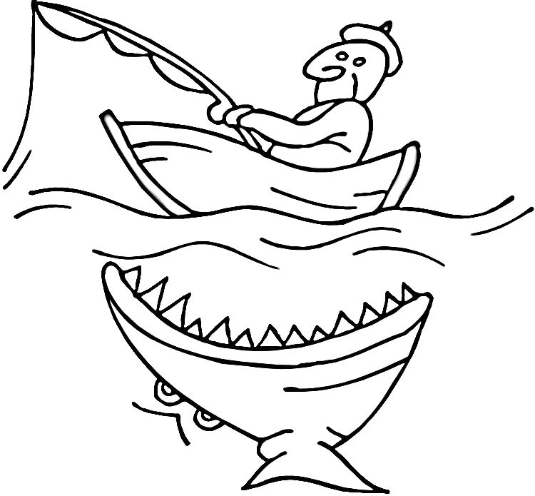 Row Boat Coloring Page
