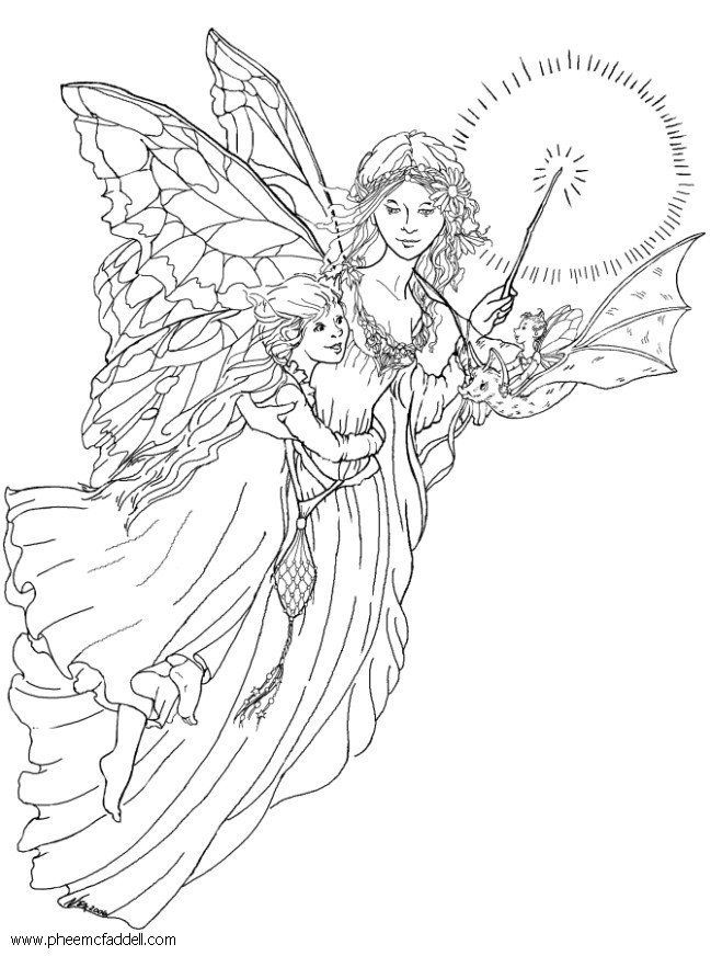 fairy coloring pages site - photo#11