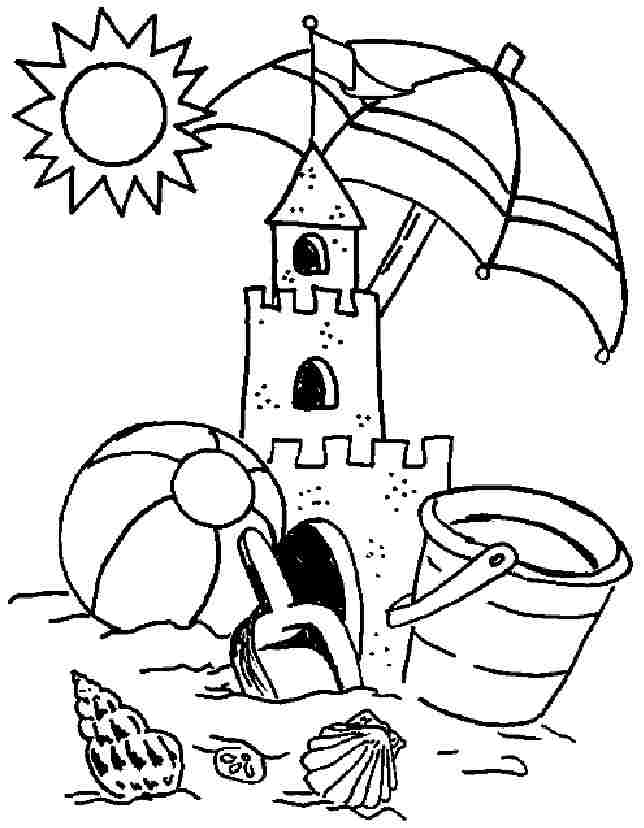Free Printable Colouring Pages Summer Season For Preschool #
