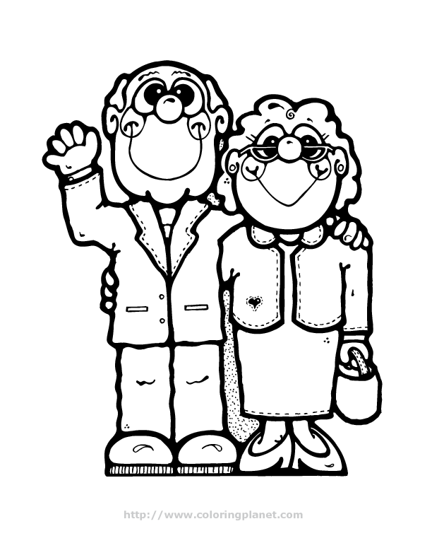 Coloring Pages For Grandparents Day
