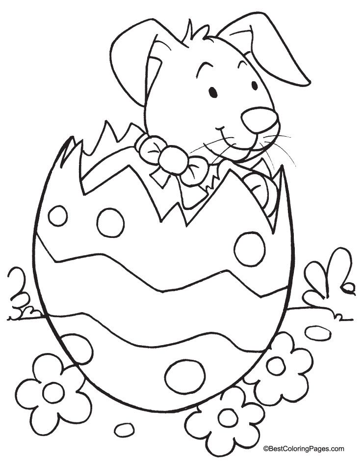 easter coloring page printable jumbo