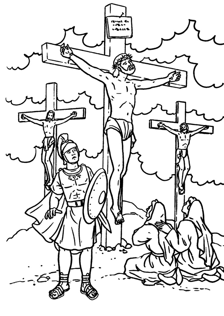 jesus cross coloring pages - photo#5