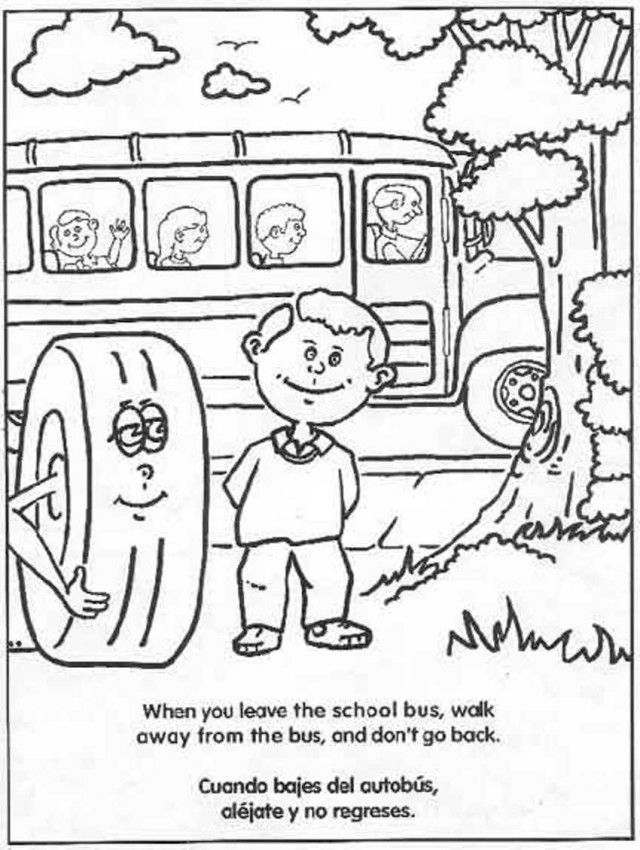 School Bus Safety Coloring Pages - Coloring Home