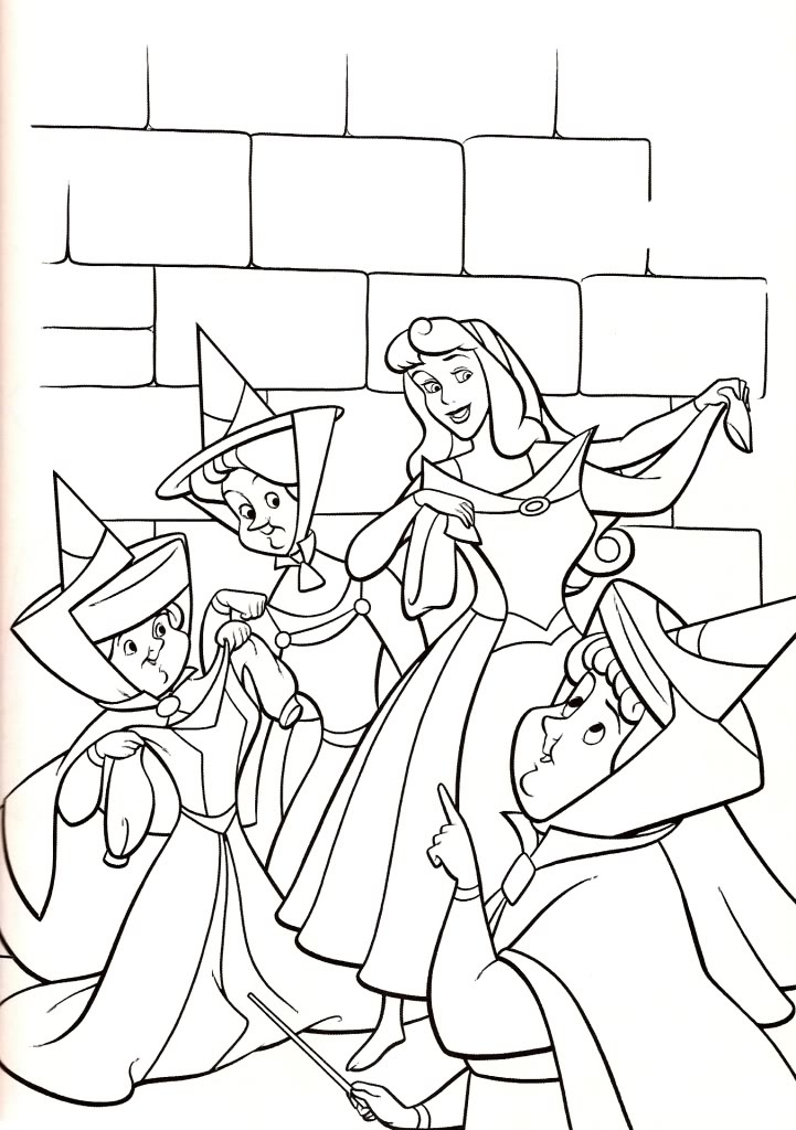 Sleeping beauty printables az coloring pages for Sleeping coloring page
