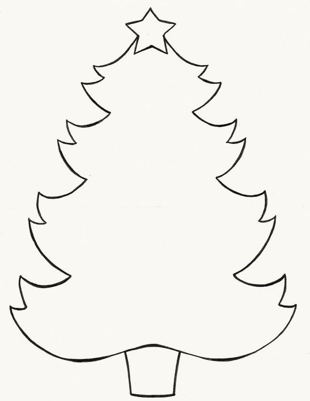 christmas tree outline coloring pages - photo#36