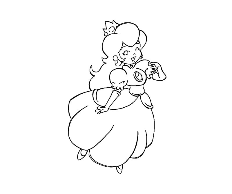 Princess Peach Coloring Pages To Print Coloring Home