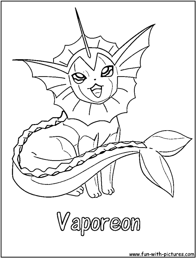 Vaporeon Coloring Pages Coloring Book Area Best Source For 225720