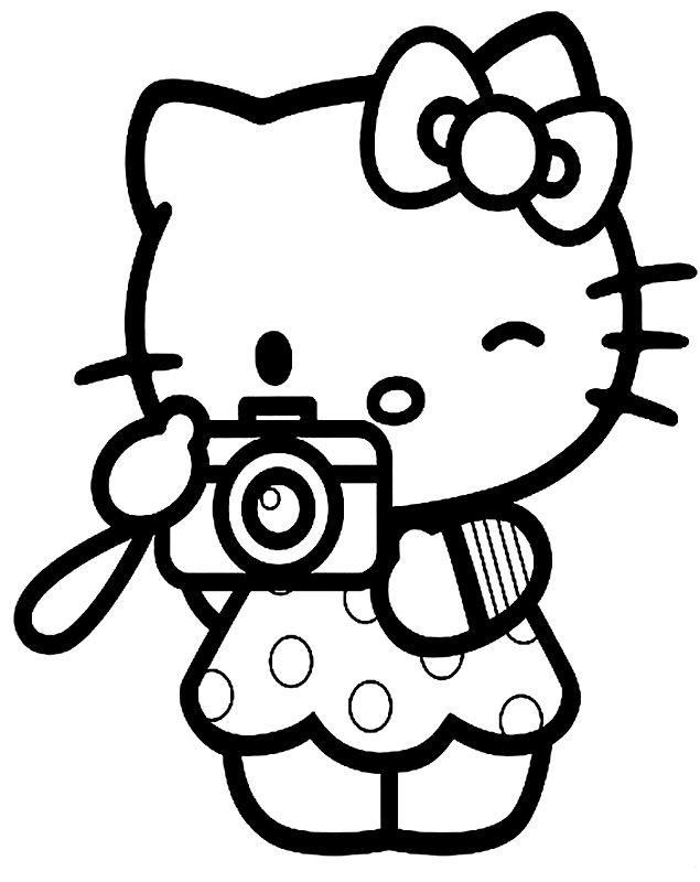 Hello Kitty Soccer Coloring Pages : Cute hello kitty coloring pages az