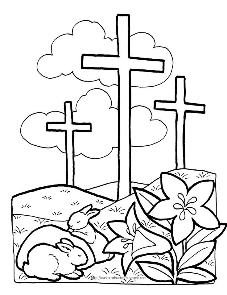 kaboose coloring pages easter cross - photo#2