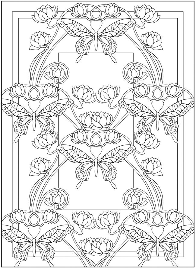 art nouveau coloring pages - photo#1