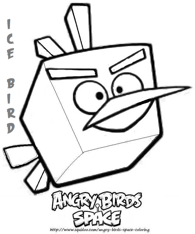 Green Terence Bird Coloring Page Angry Bird Space