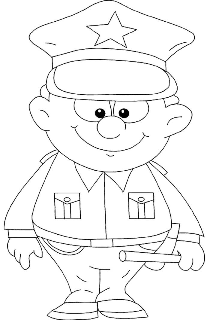 policeman coloring pages - photo#13