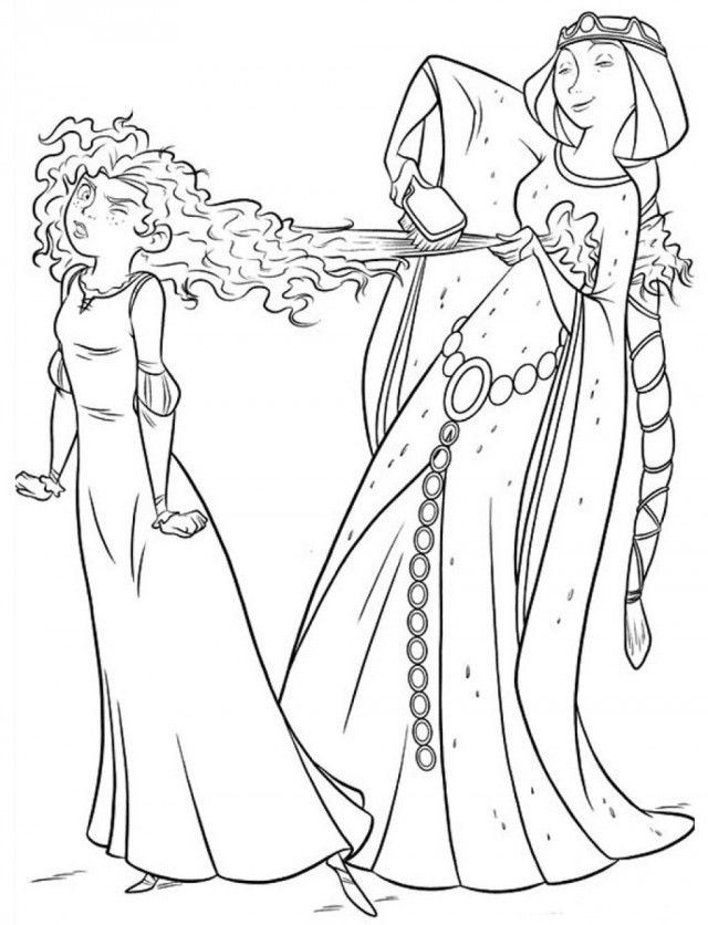 Disney Brave Coloring Pages Disney Brave Merida Coloring Pages ...