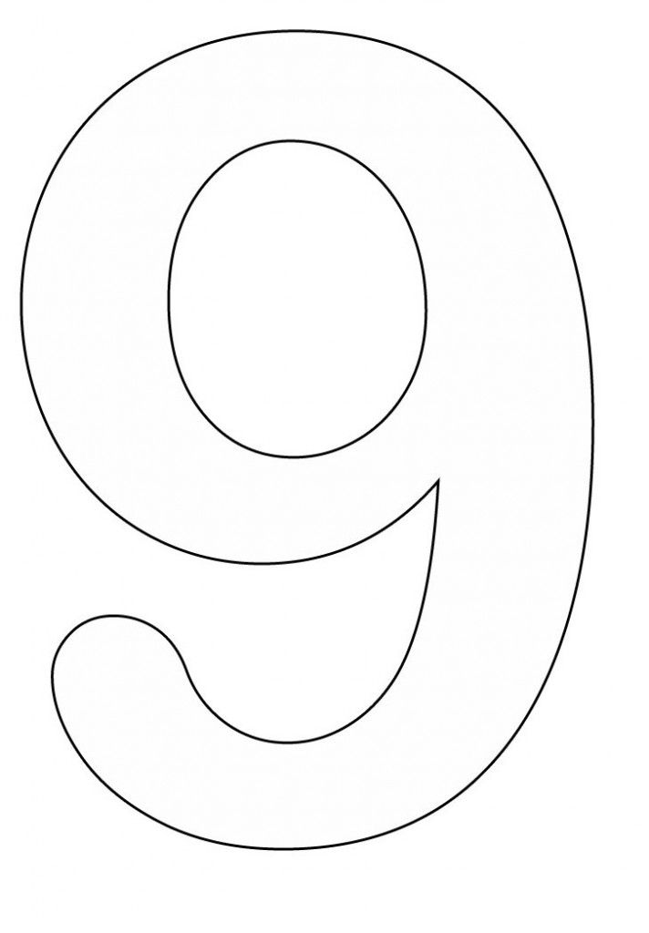 Number 9 Coloring Page Coloring Home