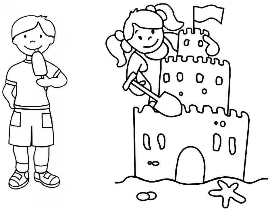 Summer Coloring Pages For Preschoolers Other Kids Coloring 139796