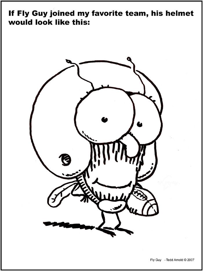 Hi Fly Guy Coloring Pages