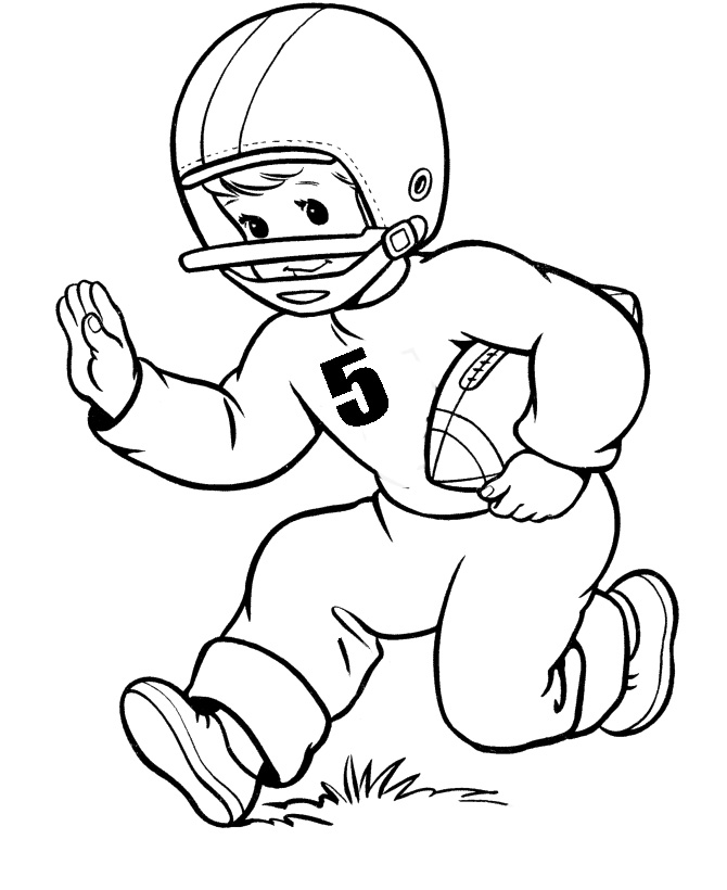 free coloring pages football player - photo#37