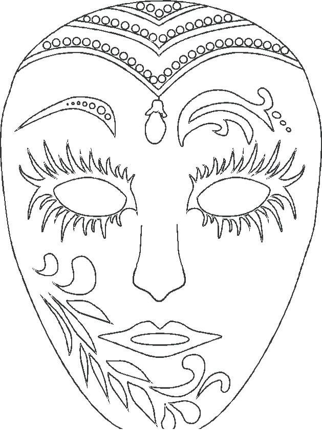 Mardi gras masks coloring pages az coloring pages for Coloring pages masks