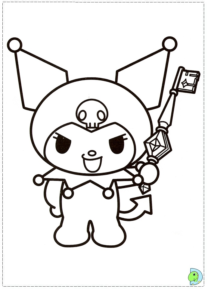 Coloring pages fun my melody coloring pages - Kuromi Coloring Pages Az Coloring Pages