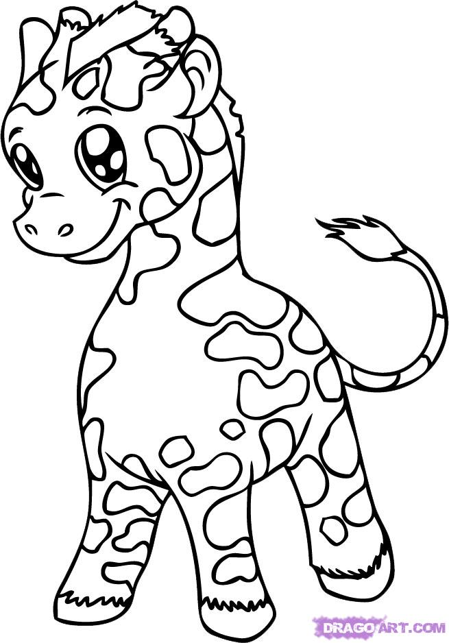 Cute baby animal coloring pages coloring home Adorable animals coloring book