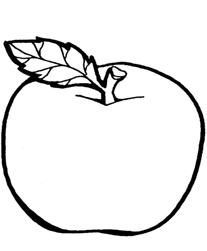 Line Art Apple : Fruit pictures for kids az coloring pages