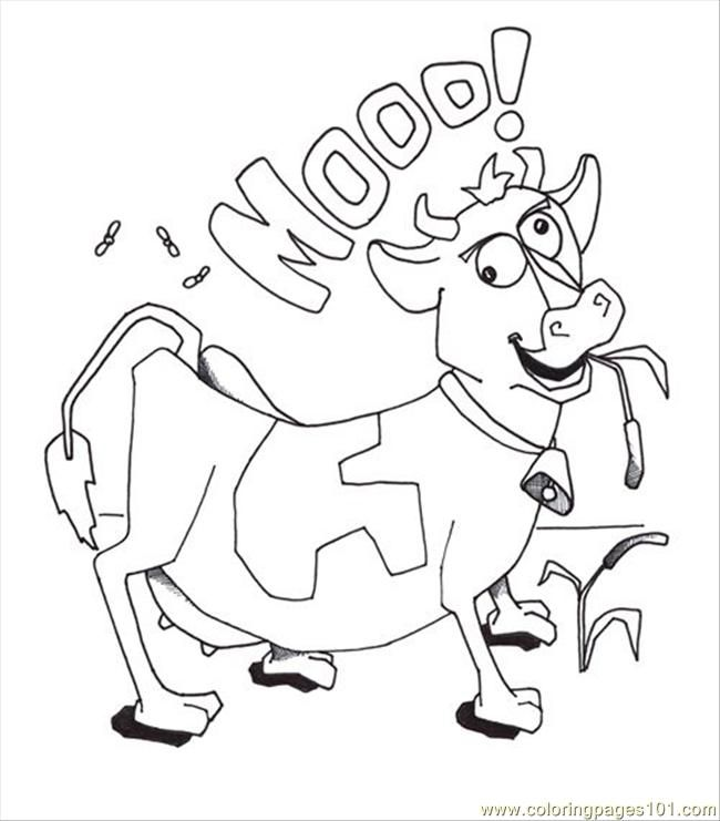 Coloring Page Cow Coloring Home
