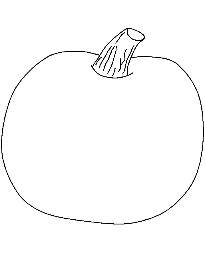 pumpkin outline printable az coloring pages