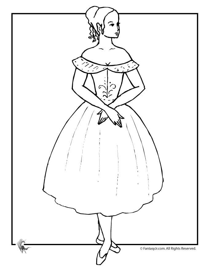 ballet coloring pages for kids - photo#22