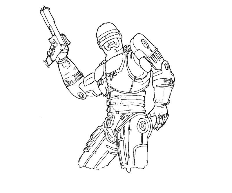 robocop coloring pages - photo#13