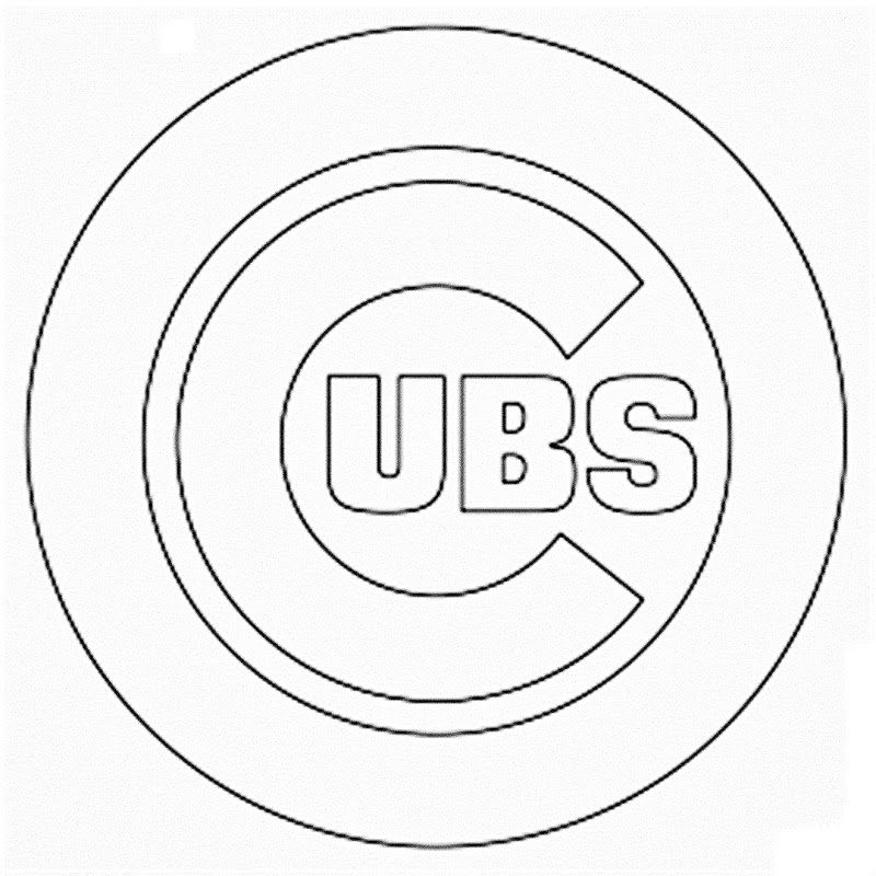 cubs coloring pages chicago cubs logo pictures coloring home