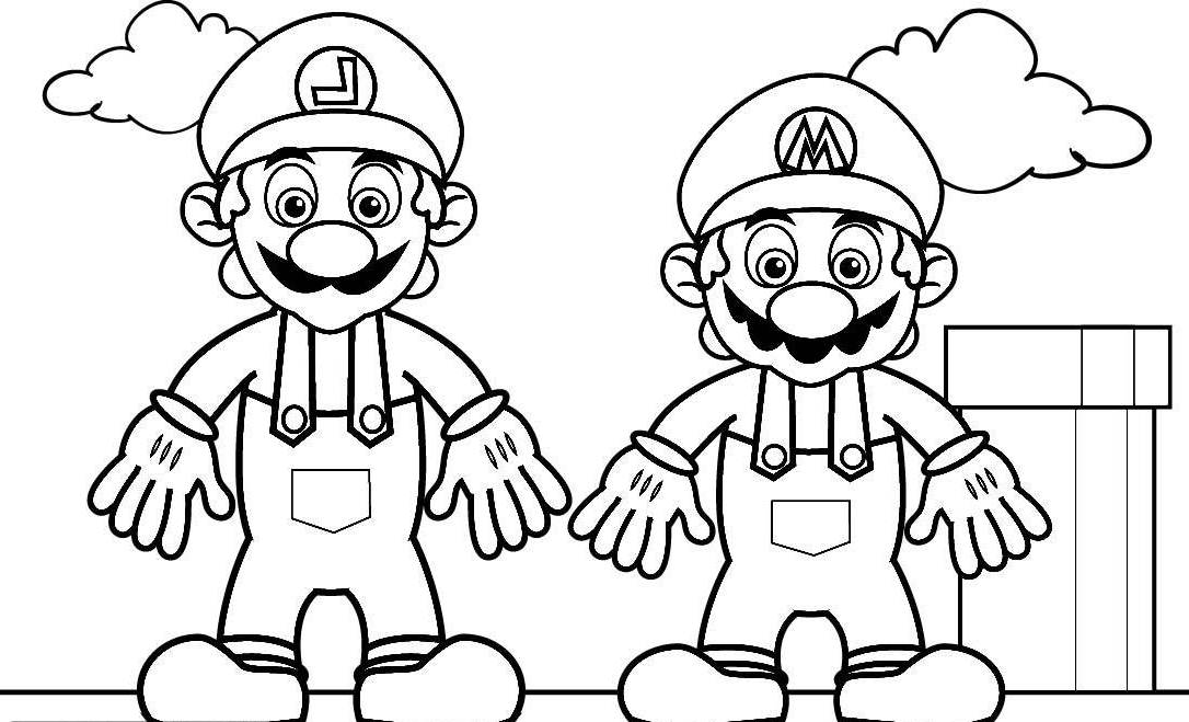 Picture Of Mario AZ Coloring