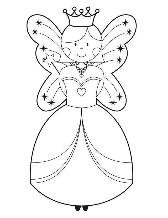 Tooth Fairy Coloring Pages For Kids