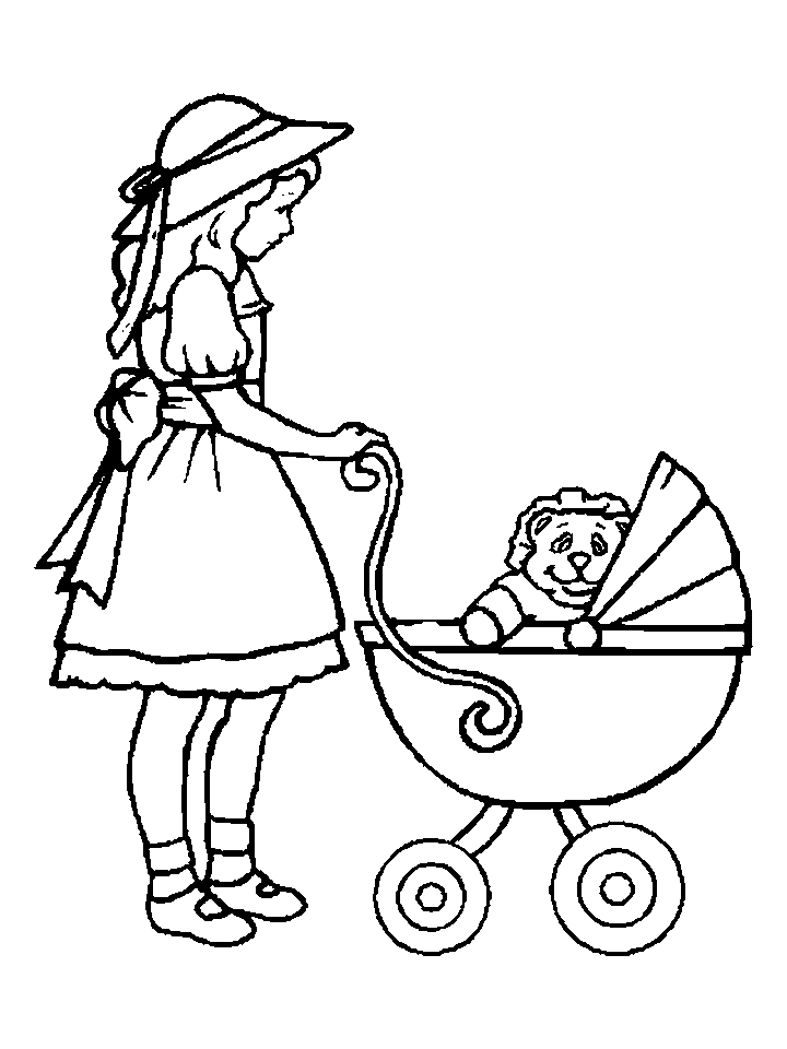 doll coloring pages to print - photo#11