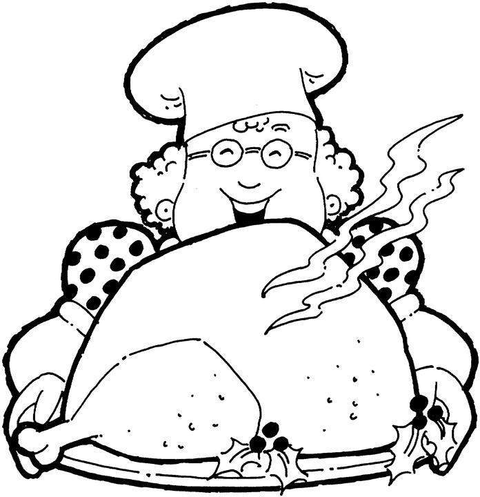 Happy Thanksgiving Day Dinner Coloring Pages
