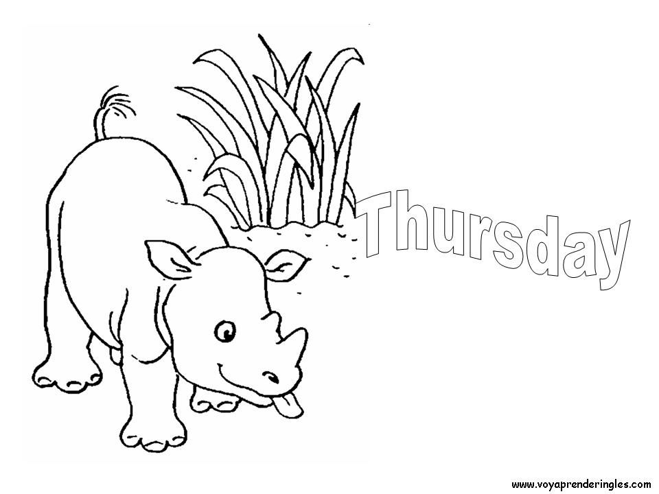 Days Of The Week Coloring Pages - Coloring Home