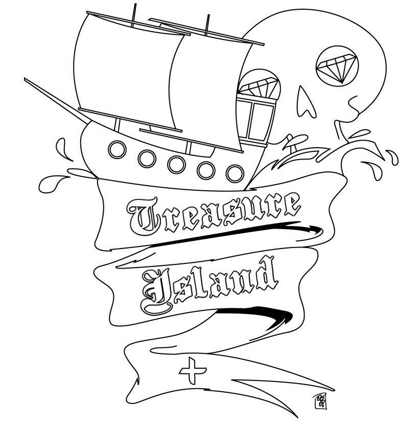 treasure island coloring pages