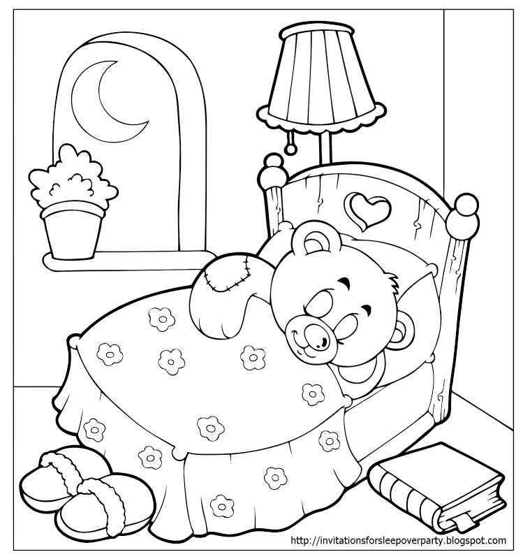 pigs in pajamas coloring pages - photo#28