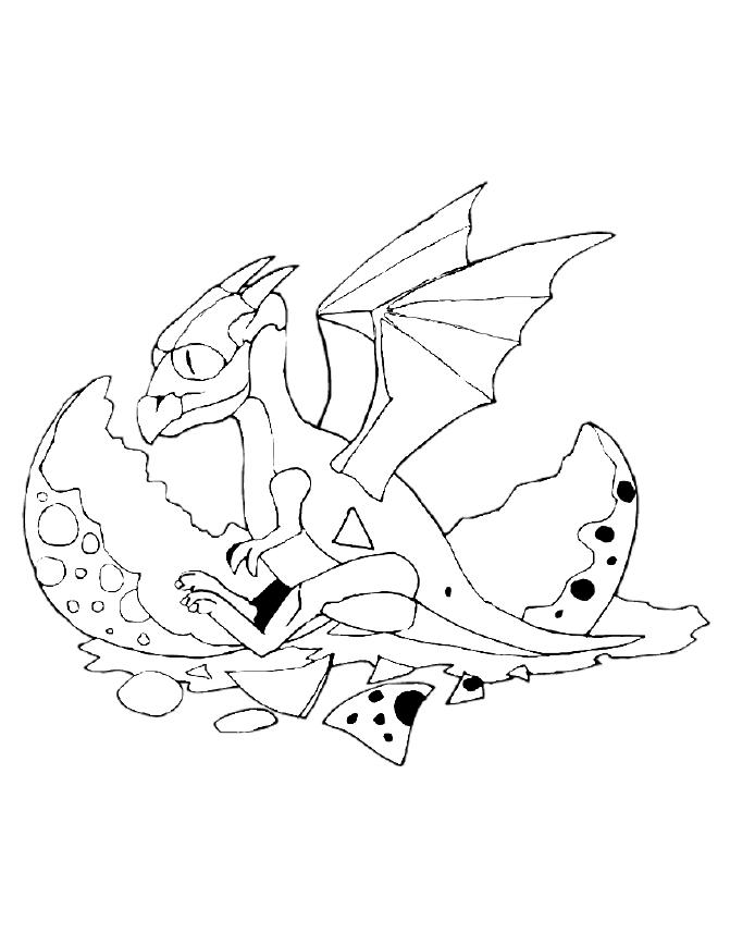 detailed dragon coloring pages - photo #24