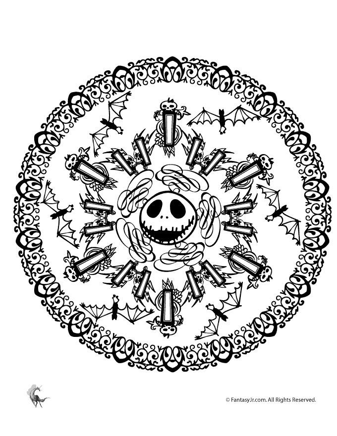 Nightmare Before Christmas Printable Coloring Pages