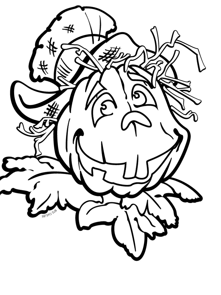 Scary Pumpkin Coloring Pages Az Coloring Pages Scary Pumpkin Page To Color