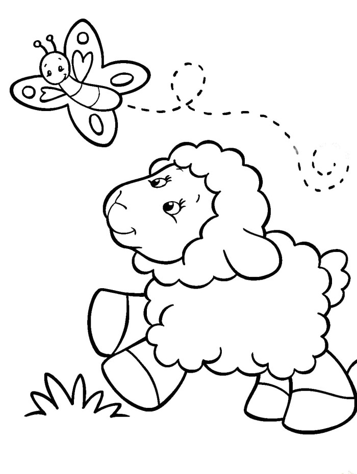 Lamb Coloring Pages For Kids