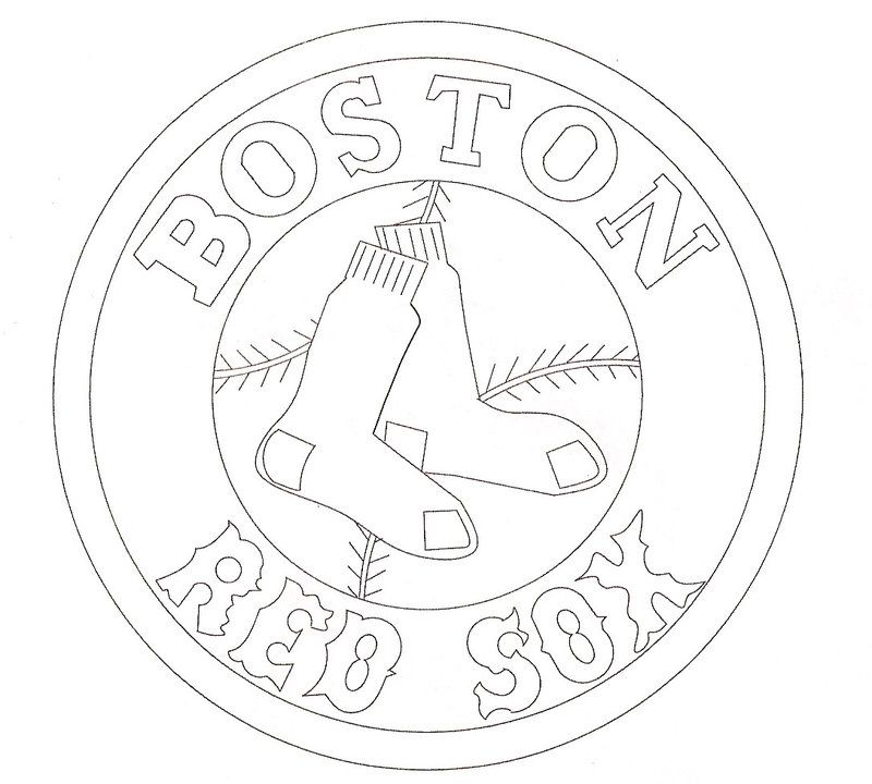 logo red sox coloring pages - photo#2