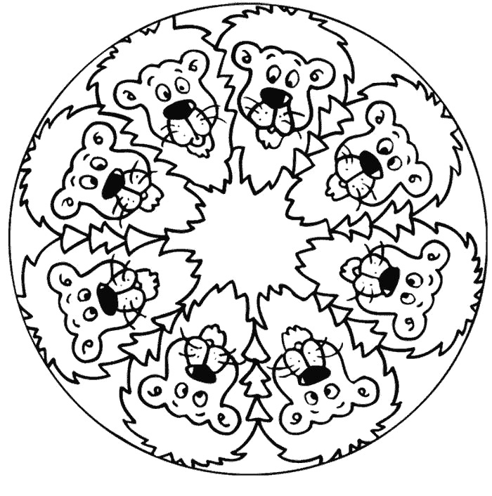 Mandala Coloring Pages For Kids
