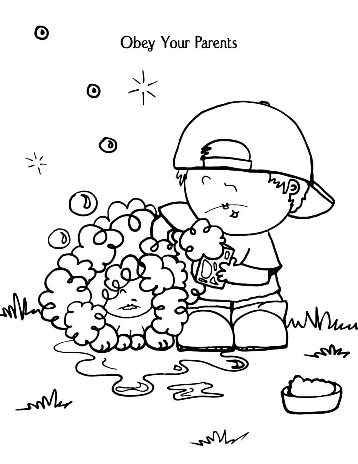 Obey God Coloring Page AZ Coloring