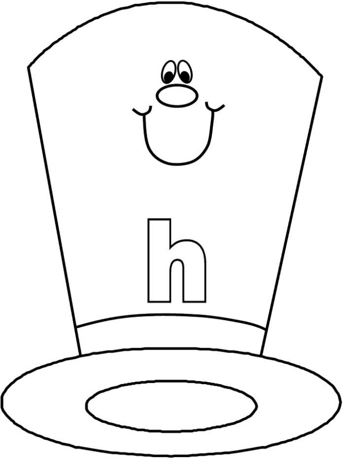 coloring page of a hat - hat coloring page az coloring pages