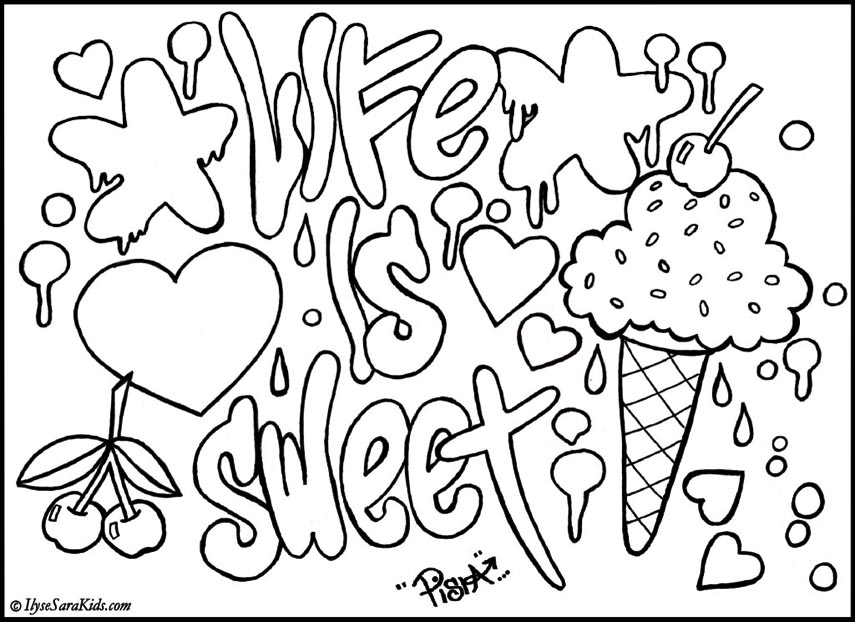 coloring pages of graffiti letters - photo#17