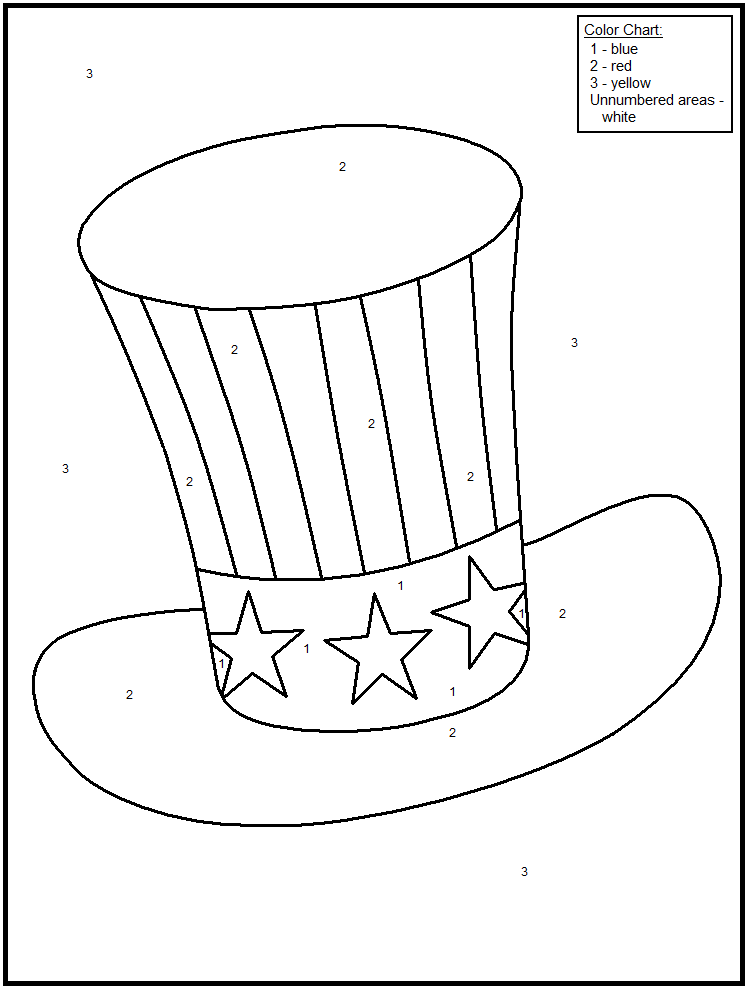 FREE Printable Fourth Of July Color By Number Pages - Great For - Coloring  Home